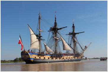 L'Hermione ship replica