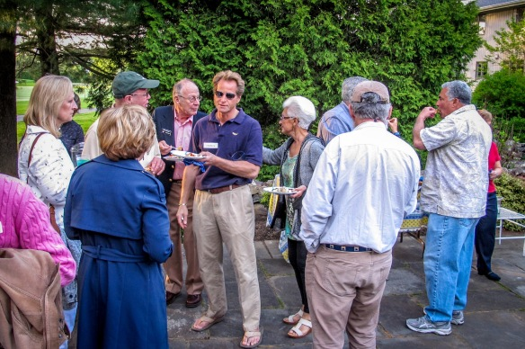 Attendees at the Greenwich Sail & Power Squadron Boating Season Kick-Off Party enjoy some amazingly good food.