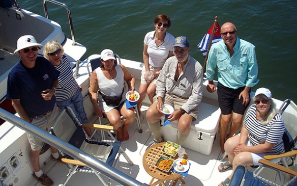 Squadron members and guests enjoy a Tuesday evening cruise